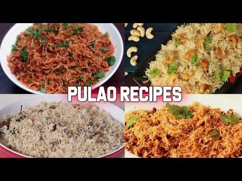 4 Easy And Delicious  Pulao Recipes   Lunch-Box Recipes   Vegetarian Pulao Recipes