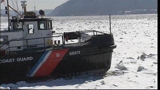U.S. Coast Guard Hudson River Ice Breaking Mission