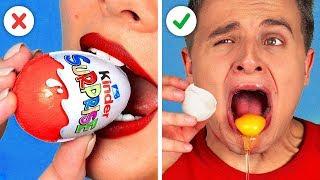 THỬ THÁCH ĐỒ ĂN CHOCOLATE VS ĐỒ ĂN THẬT! Những trò đùa vui nhộn!! Thử vị giác với 123GO!CHALLENGE