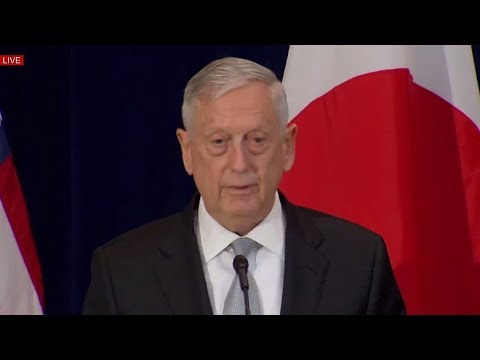 Rex Tillerson, James Mattis NORTH KOREA Press Conference News w/ Japanese Counterpart 8/17/17