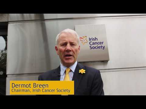 Irish Cancer Society Chairman Dermot Breen speaking about the 2017 National Cancer Strategy