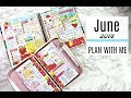 PLAN WITH ME | JUNE 2018 | Erin Condren Life Planner