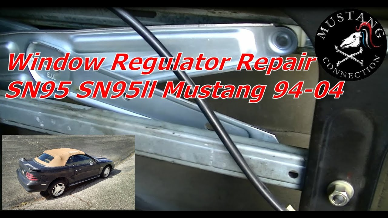 1994 To 2004 Mustang Window Regulator Repair Project 1995 1999 Ford Wiring Harness Sn95 Part 5