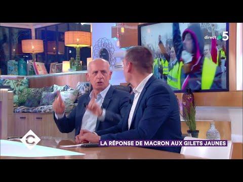 La réponse de Macron aux Gilets Jaunes - C à Vous - 27/11/2018