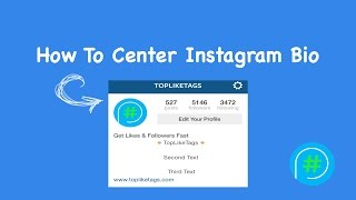 How To Center Instagram Bio 2017 | Instagram Bio Space Tutorial