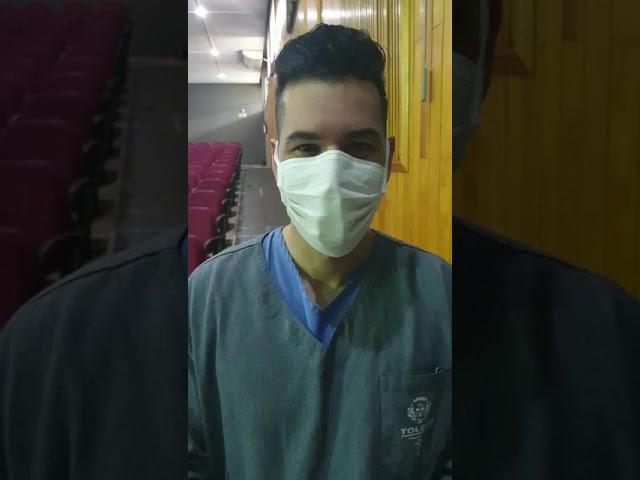 Mais um dos profissionais da saúde que recebe a vacina contra o covid-19 em Toledo-PR