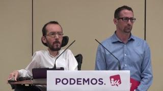 Presentación del preacuerdo entre Podemos e IU para las elecciones generales.  #UnidasPodemos28A