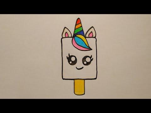 สอนวาดรูปไอติมยูนิคอนน่ารักเก๋ไก๋|Drawing Unicorn Ice Cream|DailyArt#025|My Sky Channel.
