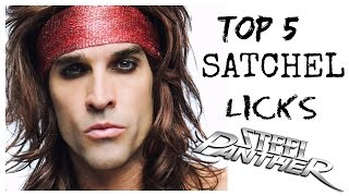 Top 5 Satchel Licks (Steel Panther) - WITH TABS!!