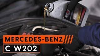 Sådan motorolie og oliefilter på MERCEDES-BENZ C W202 [GUIDE AUTODOC]