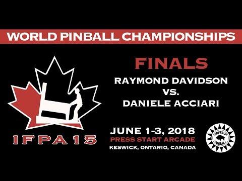 IFPA 15 World Pinball Championship Finals - Raymond Davidson vs. Daniele Acciari