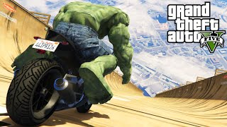 "GTA 5 Mods ""THE HULK VS RAMP"" (GTA 5 Hulk Mod, GTA 5 Ramps & Stunts, Funny Moments Compilation)"