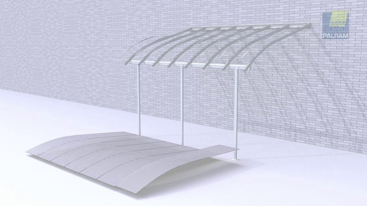 comment monter le toit de terrasse en alu joya de palram youtube. Black Bedroom Furniture Sets. Home Design Ideas