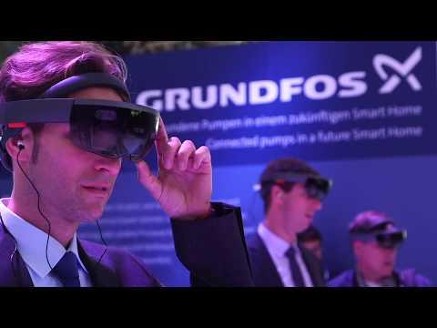 Grundfos HoloLens at ISH Trade Fair 2017, Frankfurt