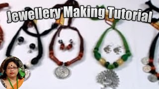 Jewellery Making Tutorial ( Necklace Making ) Part - 8 / Debjani Creations Tutorial