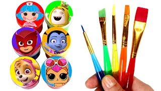 Drawing & Painting with Surprise Toys Vampirina LOL Surprise Lalaloopsy PJ Masks Paw Patrol Oddbods