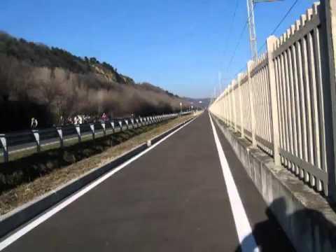 Fano-Pesaro in 1min 30 in bici