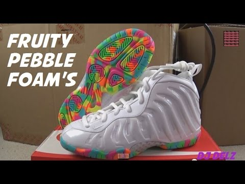 brand new 14105 512be Nike Air Foamposite One Fruity Pebbles Sneaker Review