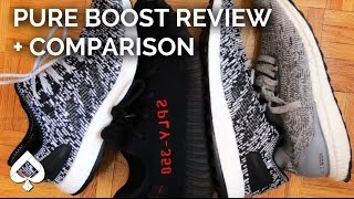 "Adidas Pure Boost ""OREO"" Review and Yeezy, Ultra Boost, EQT Comparison!"