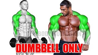 SHOULDER AND BICEPS WORKOUT WITH DUMBBELLS ONLY