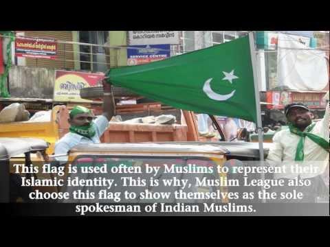 Green flag of Islam raised in Mumbai protest