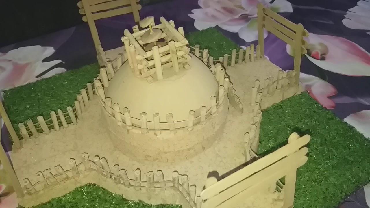 how to make a model of sanchi stupa