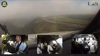 LAS Boeing 727 STUNNING Cockpit Landing through low clouds in Quito, Ecuador! [AirClips]