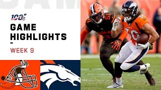 Browns vs. Broncos Week 9 Highlights | NFL 2019