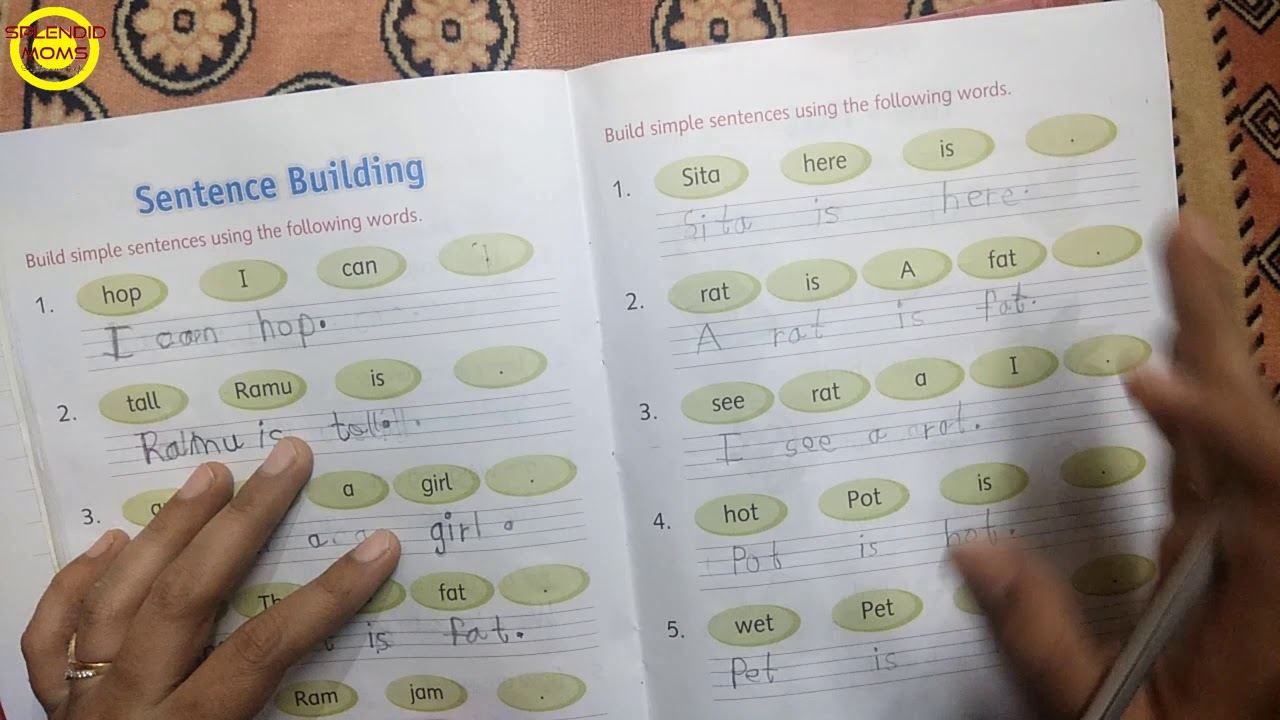बच्चों को Jumbled Sentences को सही करना कैसे सिखाएं    Jumbled Sentences  for UKG \u0026 Grade 1 - YouTube [ 720 x 1280 Pixel ]