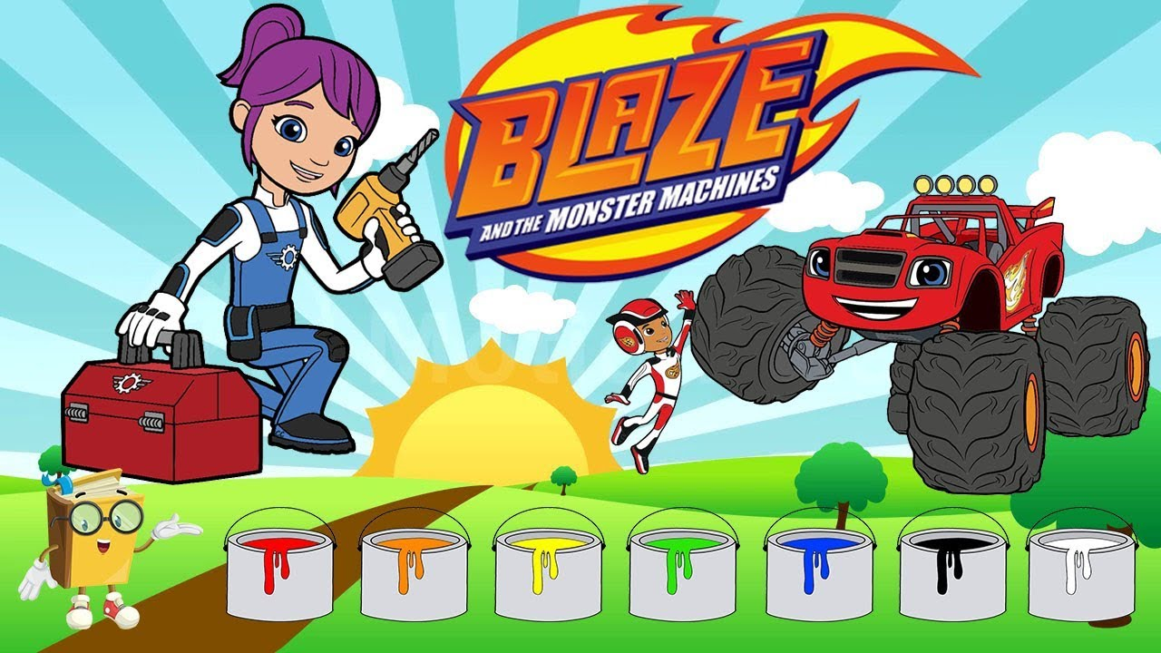 Download Blaze 2018 - Learn the colors with Gabby #blaze#learncolorswithgabby #gabbya nimation #learncolor