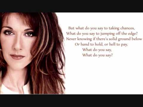 Celine Dion - Taking Chances + LYRICS - YouTube