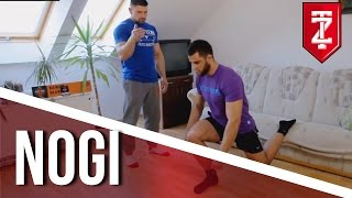 ▪█─ Ćwiczenia na nogi ─█▪ Trening w domu bez sprzętu - dla średnio zaawansowanych [Zapytaj Trenera]