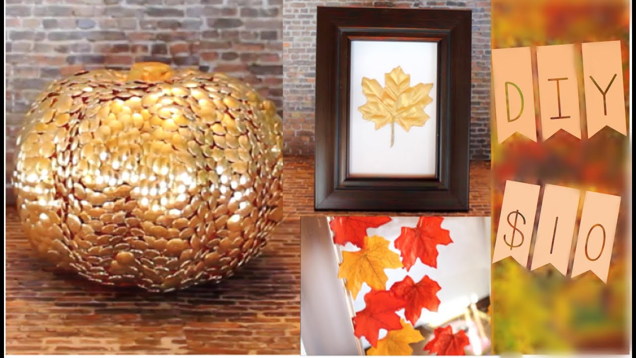 Amazing Diy Fall Decor Part - 10: $10 DIY Fall Decor! + Tips To Have More Fall In Your Life! - YouTube