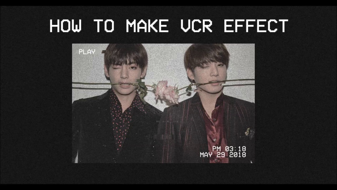 how to // vhs effect on photoshop ♡ odd moon