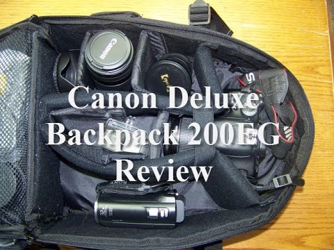 Canon Deluxe Backpack 200 Eg Review By A Private Investigator Youtube