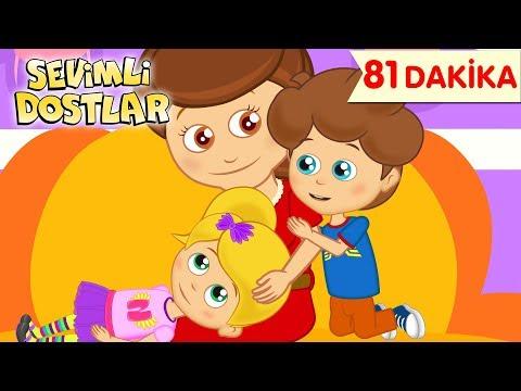 Canım Annem ve Sevimli Dostlar ile 81 Dakika Çizgi Film Bebek Şarkıları