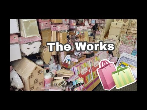 Shop With Me  - The Works inc Craft items