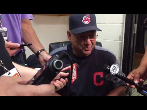 "Indians manager Terry Francona: ""We went down fighting."""