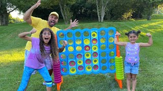 Connect Four Family Fun Game Challenge with Sally and Deema