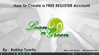 So Erstellen Sie eine GRATIS-REGISTER (FR) - Konto für Lean-N Grün