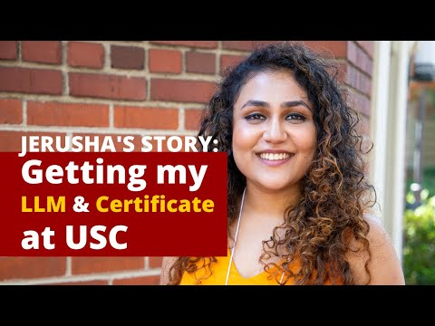 Jerusha's Story: Getting My LLM And Certificate In Media And Entertainment Law At USC