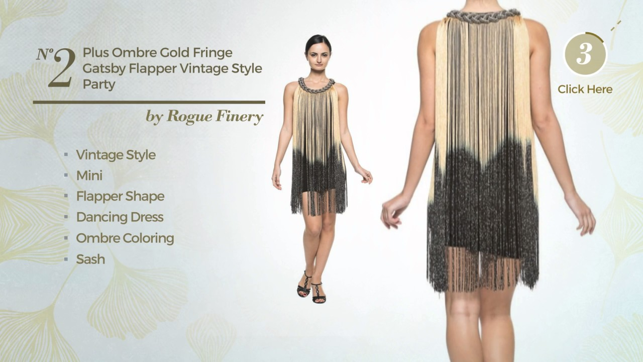 Shimmering Plus Size Flapper Dresses - YouTube