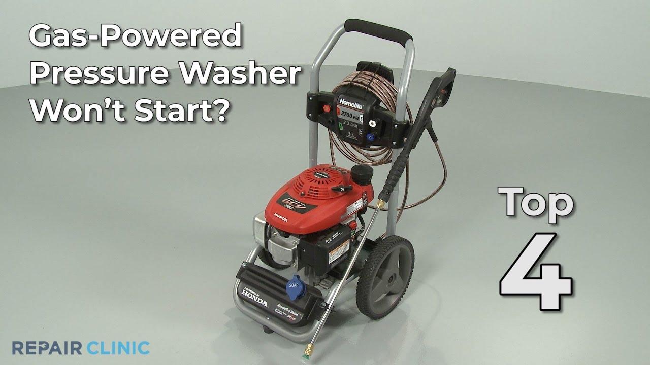 Top Reasons Pressure Washer Won T Start Pressure Washertroubleshooting Youtube