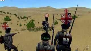 Mount and Blade: Napoleonic Wars: RGB vs 2Brg Linebattle Part 1
