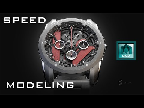 3D Timelapse Watch Design - Speed Modeling In Maya