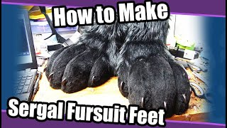 //Tutorial #91// Sergal Fursuit Feet Paws + PDF Template