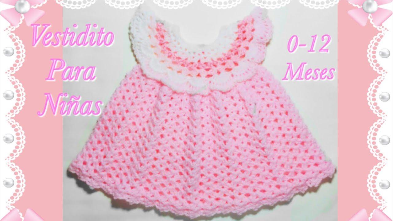 Como tejer un vestido Pinafore fácil y rápido para niñas en gancho 0-12  meses  131 -Crochet for Baby f07907313c52