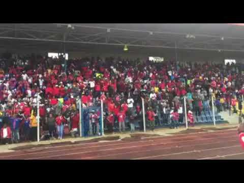 Mbabane Swallows fc (swaziland) celebrations against Zanaco (zambia) in CAF champ @ Somhlolo stadium