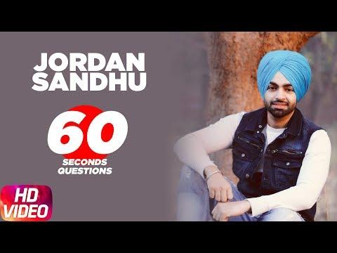 Jordan Sandhu  60 Seconds Questions   Speed Records