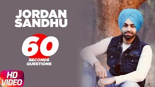 Jordan Sandhu | 60 Seconds Questions | Speed Records